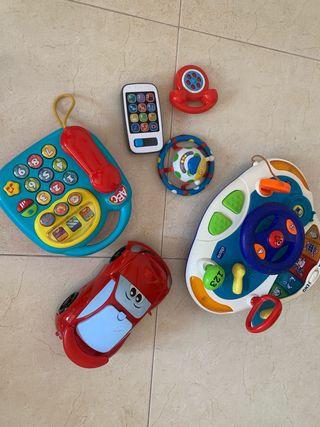 Lote juguetes con sonido bebé