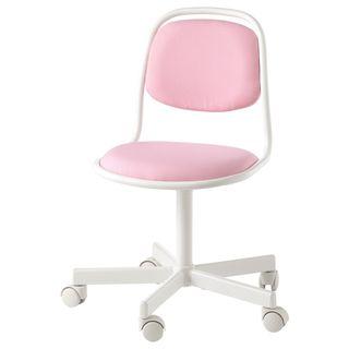 Silla escritorio niña blanco, Vissle rosa