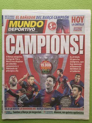 """Mundo deportivo """"La liga de tito"""" 12/05/2013"""