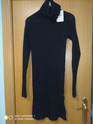 Vestido Zara negro talla M.