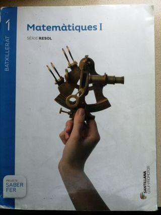 Libro 2 batxillerat Matematiques I Ed. Santillana