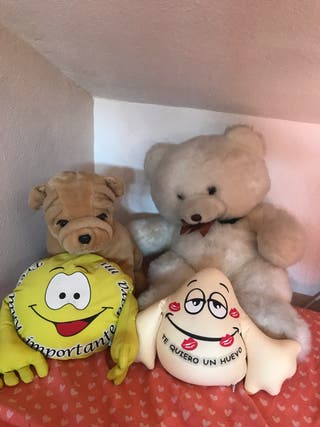 Lote 4 peluches