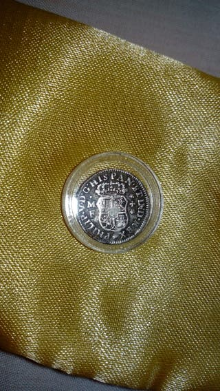 moneda de plata, Felipe V 1738 m.f