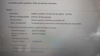 Portátil i7 - 8GB de RAM - 240GB SSD