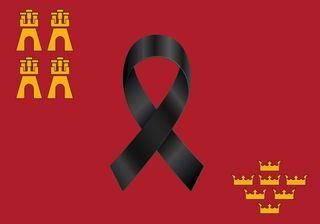 Bandera Balcon/Terraza Murcia Luto
