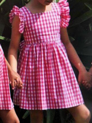 Vestido María. 8 años. Cosido a mano. Don babero