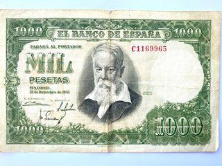 Billete 1000 pesetas 1951. Joaquin Sorolla