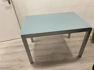 Mesa rectangular extensible para salón o cocina