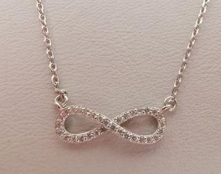 collar infinito plata