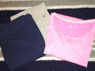 2 malla y camiseta manga corta, talla XL/XXL