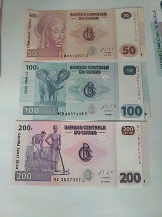 serie billetes congo nuevos