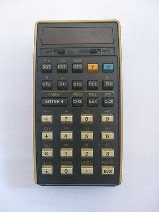 calculadora hewlett-packard 25