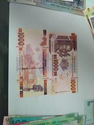 billete 1000 pesos guinea