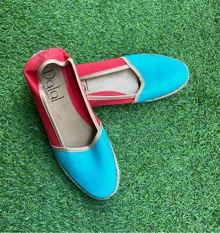 Alpargatas dos colores de Dalal Shoes