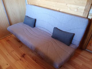 Sofá cama gris con arcón NUEVO