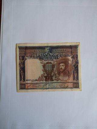 BILLETE ANTIGUO DE ESPAÑA 1000 PESETAS 1925
