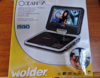 Reproductor portátil DVD + acople a coche
