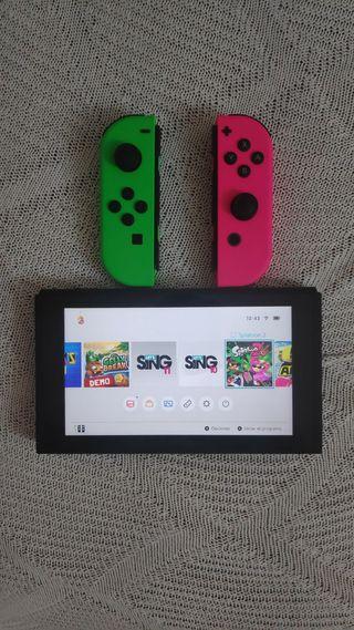 nintendo switch nueva con extras y juegos.