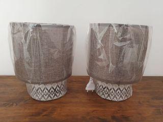 NUEVAS - Set 2 lámparas estilo étnico gres