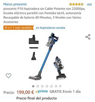 Aspiradora sin cable POTENTE