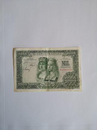 BILLETE ANTIGUO DE 1000 PESETAS 1957 PRECIOSO