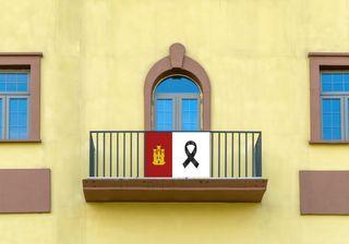 Bandera Balcon/Terraza Castilla La Mancha Luto