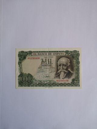BILLETE NUEVO DE 1000 PESETAS 1971