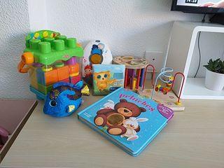 lote de juguetes para bebe 0 a 3 años