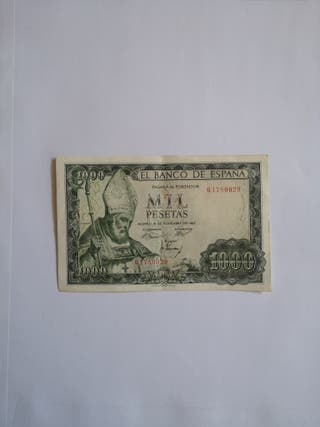 BILLETE ANTIGUO DE 1000 PESETAS 1965