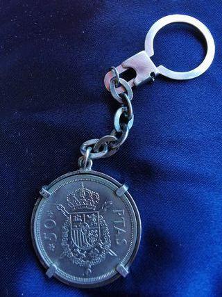 1975 moneda llavero 19*76 plata