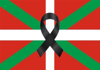 Bandera Balcon/Terraza Pais Vasco Luto