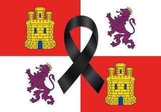 Bandera Balcon/Terraza Castilla Leon Luto