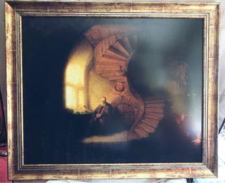 Cuadro El filósofo meditando de Rembrandt