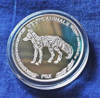 Fox moneda de plata espejo
