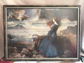 Cuadro Miranda, la Tempestad de J.W. Waterhouse