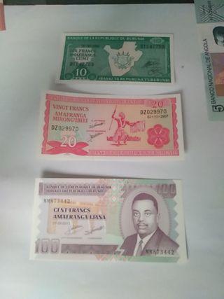 serie billetes burundi