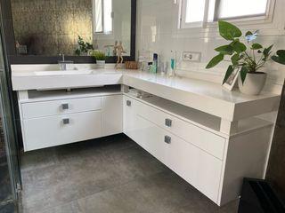 Mueble de baño bancada Corian
