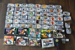 Super lote 64 juegos Nintendo 64 + extras