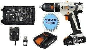 Taladro bateria 18v 2ah + accesorios