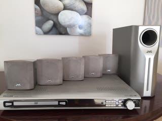 DVD Philips + Home cinema JVC