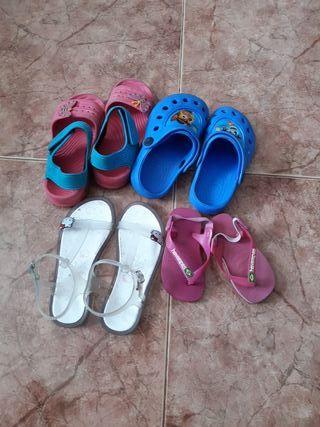lote de sandalias talla de 21 a 29