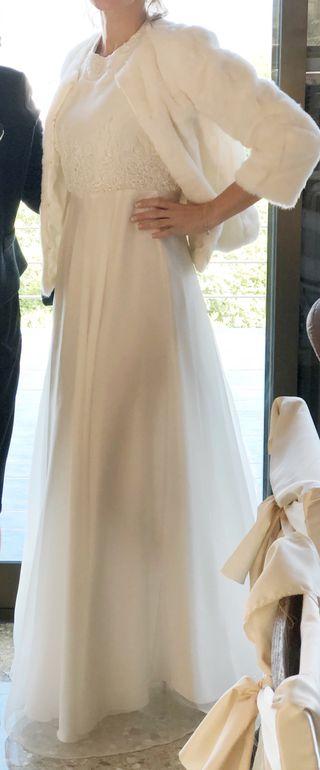 Vestido novia elegante diseñadora Nona Florenza