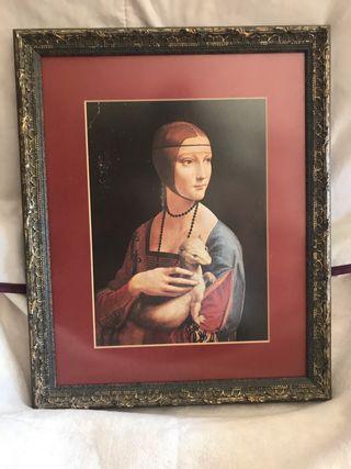 Cuadro La dama del armiño de Leonardo Da Vinci