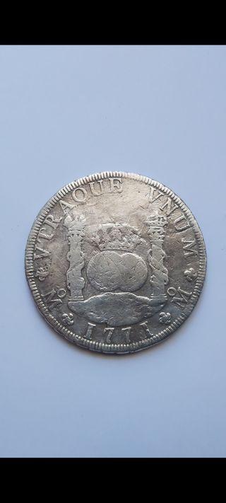 8 reales 1771 Carlos III México BC+