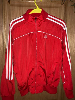 Red Adidas tracksuit top