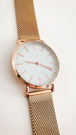 Reloj oro rosa milanesa 33mm