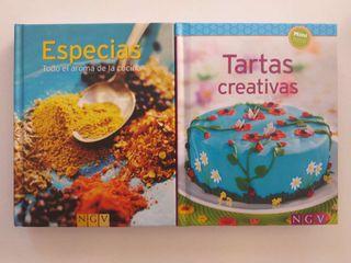 """Mini libros de cosina""""Tartas creativas """"y""""Especias"""