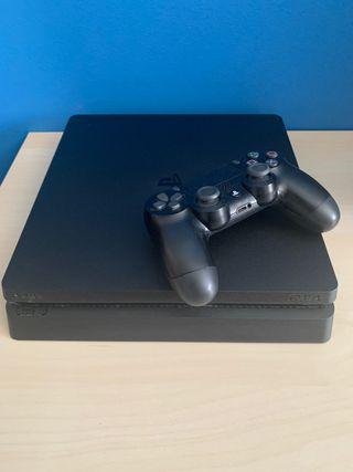 PS4 slim 1TB con un mando