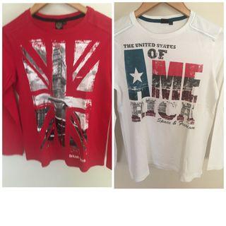 2 camisetas chico