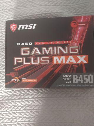 placa base MSI b450 Gaming plus Max A ESTRENAR